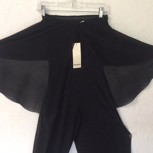 Jean Paul Gaultier FUZZI Black Jumpsuit size small
